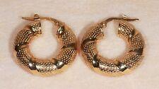 E.D. - Boucles d'oreilles Créoles en Or jaune 14 Carats ou 585/1000ème