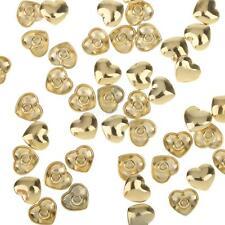 50 Sets Gold Studs Rivets Punk Rock DIY Leathercraft Clothes Shoes Accessory