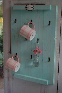 Landhaus Tassenregal Cups CAMILLA  Tassenhalter Handgefertigt Shabby Chic