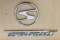 PREMIUM 3D Trabant Schriftzug + Emblem Chrom Typenzeichen Logo Typenschild DDR