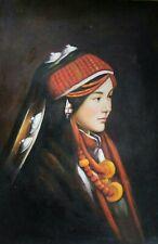 TIBETISCHER KOPFSCHMUCK Öl Leinwand Gemälde oil canvas painting ca. 60x90 cm II
