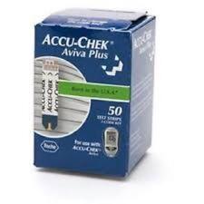 Accu-Chek Aviva Plus Diabetic Blood Glucose Test Strips