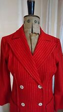 1930's/1940's Inspired Red Pinstripe Vintage Jacket & Trouser Suit Size 10/12