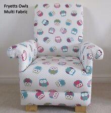 Fryetts Owls Fabric Kid's Chair Child's Armchair Animals Birds Bedroom Nursery