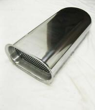 "Dual 4 Barrel Carb SMOOTH Aluminum Hood Scoop Air Cleaner 20"" Long Street Rod"