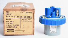 Hubbell Pin Amp Sleeve Device Inlet 100 Amp 250 Volt 2 Pole 3 Wire 3100b6
