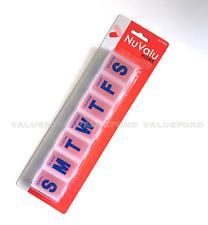 (C3) JUMBO PILL BOX 7 Days Large Weekly Medicine Vitamin Organizer Case PILLBOX