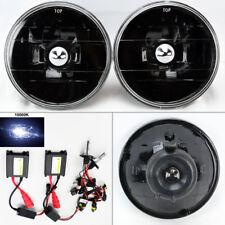 "5.75"" 5 3/4 Round 10K HID Xenon H4 Black Glass Headlight Conversion Pair Pontiac"