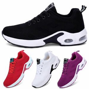 Women's Air Cushion Athletic Sneakers Sport Walking Breathable Running Gym Shoes