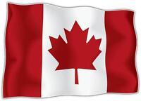 AUTOCOLLANT STICKER drapeau CANADA CANADIEN  Moto Voiture ADHESIF Vinyl Vinyle