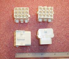 QTY (20) 350783-1 AMP 12 POSITION PANEL MOUNT CRIMP CAP HOUSING 6.35mm