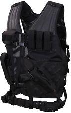 Cross Draw Tactical Vest Black Molle Cross Draw Vest 6491