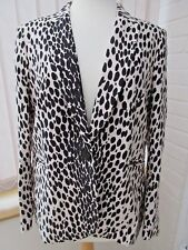 *Hobbs* lined black & cream wool with viscose & silk jacket with pockets (16)