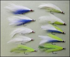 Bass Fishing Flies, 10 Pack of Mixed Deceivers, Size 2/0, Saltwater Fishing Fly