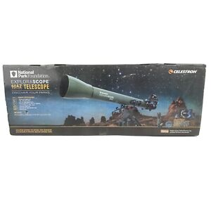 Celestron National Park Foundation Explorascope 60AZ Telescope New Open Box