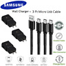 NEW Original Samsung Galaxy S6 S7 Edge Note 5 Fast Charger 3Ft Micro USB Cable
