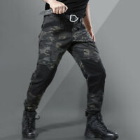 Multicam Black Mens Pants Tactical Military Army Cargo Combat Trousers Casual