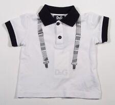 NIB NEW Dolce & Gabbana D&G baby boys suspender print polo shirt top 3/6m