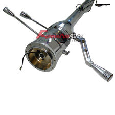 """Chrome Stainless 32"""" AutomaticTilt Steering Column ForGM Chevy Street Rod NO KEY"""