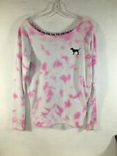 VICTORIA SECRET SWEAT SHIRT SIZE S Small EUC Pink Tie Dye VS PINK