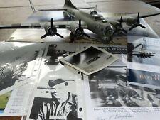 Monogram B-17G Moonlight Serenade Signed 388th Bomber Plane Model Kit Built Lot