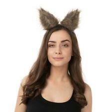 Pince En Chat Loup Oreilles Noir Marron Halloween Félin Cheveux Slide Costume