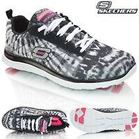 Womens Skechers Flex Appeal Memory Foam Comfort Go Walk Lace Up Trainers Shoes