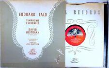 ANGEL RED UK Lalo DAVID OISTRAKH Symphonie Espagnole WOODEN DOWEL Martinon 35205