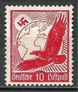 Germany Third Reich 1934 MH - Air Mail Eagle Globe Swastika 10 Pf Mi-530- SG-527