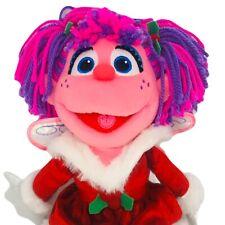 "Gund Sesame Street Abby Cadabby 13"" Holiday Plush Christmas Wings Red Dress"