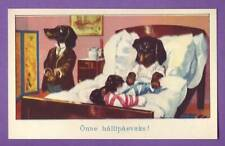 ESTONIA DOG DACHSHUND VINTAGE POSTCARD 315