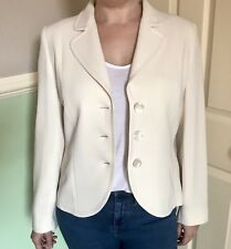 Vintage GOLD By Michael H Cream Fitted Tailored Jacket UK 12/38 Cruise / Wedding