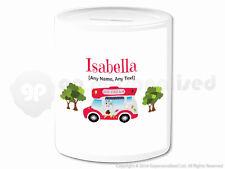 Personalised Gift Ice Cream Van Money Box Cone Scoop Driver Vendor Present #3