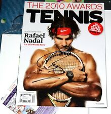 RAFAEL NADAL Signed TENNIS Magazine Barechested *JSA COA *RAFA