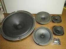 Set of 5 VICTOR speakers from Zenith console tube stereo, woofer, mids, tweeters