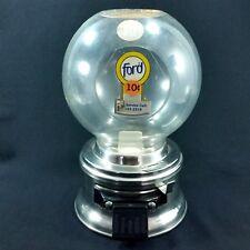 Ford Gumball Machine 10 Cent Plastic Globe Bulk Vending Candy E2 Coin OP