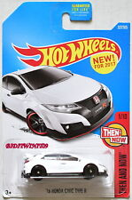 HOT WHEELS 2017 THEN AND NOW '16 HONDA CIVIC TYPE R WHITE CUSTOM MADE