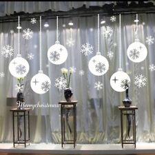 Wandaufkleber Schneeflocke Weihnachten Schaufenster Haus 43x73cm Weiß