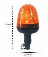 Rundumleuchte - Warnleuchte - Blinklicht mit flexiblem Fuß 50 LED's ultra Hell