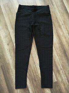 Women Push Up Leggings Yoga Pants, Size XL, Black