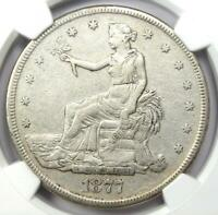 1877-S Trade Silver Dollar T$1 - Certified NGC VF Details - Rare Coin!