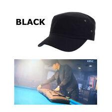 Millitary Style Cap Song Joong-Ki Descendants of the Sun Cotton 100% Korea Black