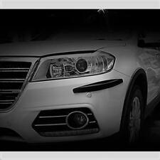 Protector Protector de Esquina Parachoques Negro Kit 4 piezas se ajusta Peugeot (CP4B)