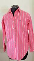 Lauren Ralph Lauren Women's Striped Top/Blouse Button Front Long Sleeve Size 4.