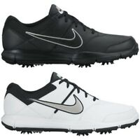 New Men's Nike Durasport 4 Golf Shoes Cleats Wide Medium Black White Free Ship