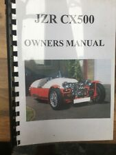 JZR CX500 Owners Manual