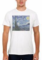 The Starry Night Vincent Van Gogh Men Women Vest Tank Top Unisex T Shirt 1714