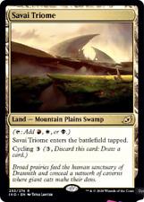 MTG x4 Savai Triome RARE Ikoria: Lair of Behemoths NM/M Magic the Gathering