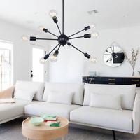 Industrial Sputnik Chandelier Hanging Pendant Ceiling Lighting Fixture 9 Light