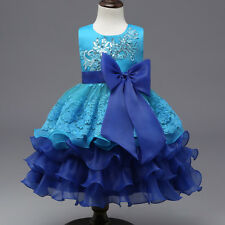 Flower Girl Dress Kid Princess Party Wedding Pageant Formal Tutu Dresses Clothes